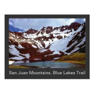 San Juan berg, blått sjöarslinga Vykort