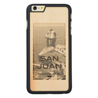 San Juan Puerto Rico Carved Lönn iPhone 6 Plus Slim Skal