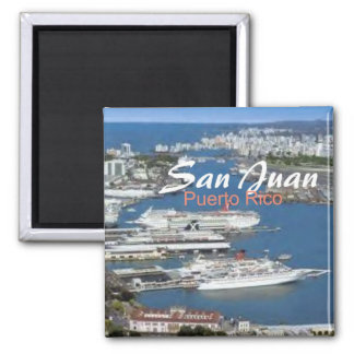 San Juan Puerto Rico reser souvenirkylmagneten Magnet