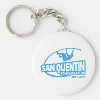 San Quentin stavhoppklubb Rund Nyckelring