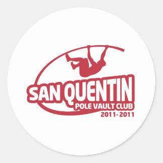 San Quentin stavhoppklubb Runt Klistermärke