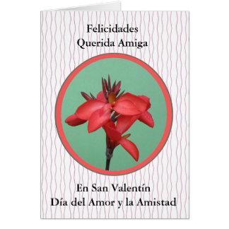 San Valentin Para una Amiga Hälsningskort
