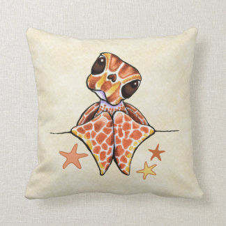 Sea Turtle Baby Brown Canvas Sand