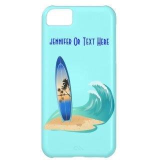 Sand & surfingbräda för PalmTree vågarstrand iPhone 5C Fodral