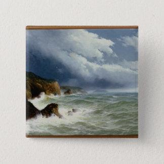 Sända i öppna hav, 1882 (olja på kanfas) standard kanpp fyrkantig 5.1 cm