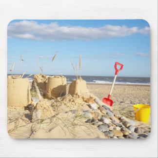 Sandcastle på stranden musmatta