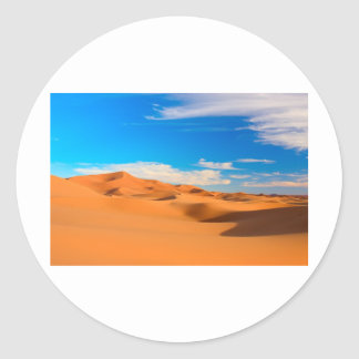 Sanddyner Runt Klistermärke