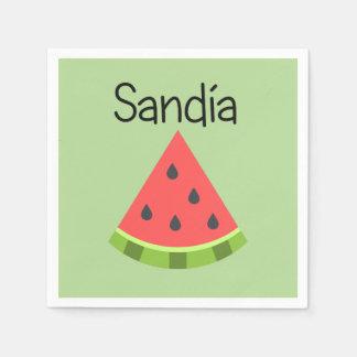 Sandia (vattenmelon) servett