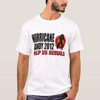 Sandig lättnad 2012 för orkan t shirt