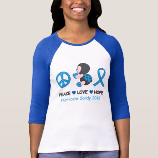 Sandig orkan för hopp för nyckelpigafredkärlek t shirts