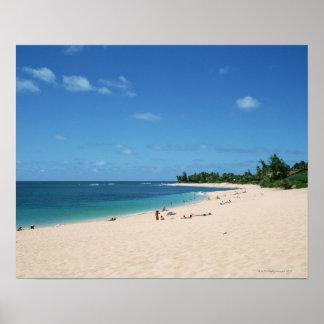 Sandig strand 3 poster