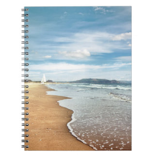 Sandig strandanteckningsbok anteckningsbok