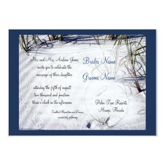 Sandig strandbröllopinbjudan 12,7 x 17,8 cm inbjudningskort