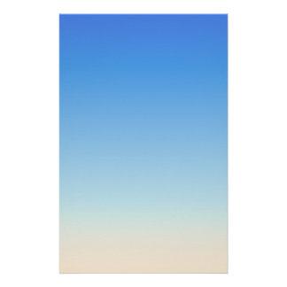 Sandig strandvattenfärg brevpapper