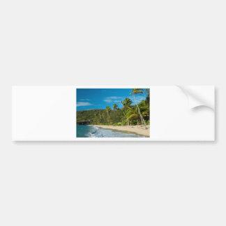 Sandig tropisk strand bildekal