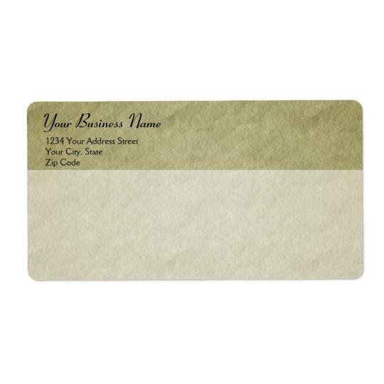 Sändningsetikett för Parchmentstilaffär Fraktsedel