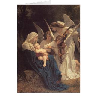 Sång av änglar hälsningskort