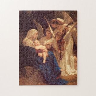 Sång av den änglarWilliam Bouguereau konsten Pussel