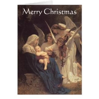 """""""Sång julkort av för änglar"""" Hälsningskort"""