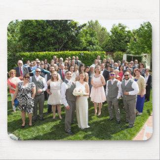 Sång + Kristen bröllop Mousepad Musmattor