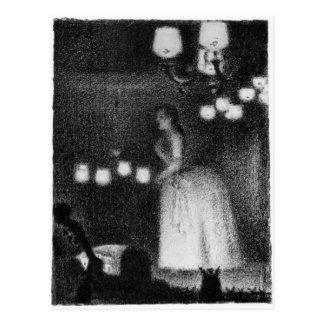 Sångare av Georges Seurat Vykort