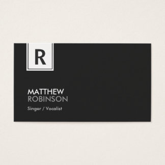 Sångare/vokalist - modern flott Monogram Visitkort