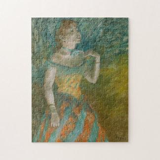 Sångaren i grönt - Edgar Degas Pussel