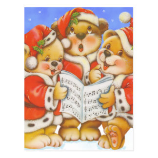 Sångbjörnar - vykort