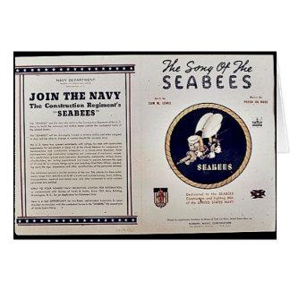 Sången av seabeesna hälsningskort