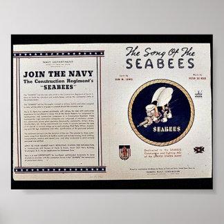 Sången av seabeesna poster