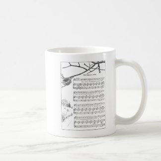 Sången för övergett bygga bo i nedgång kaffemugg