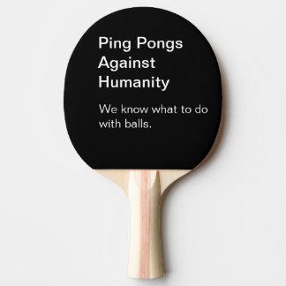 Sånger mot mänsklighetpingen Pong paddlar Pingisracket