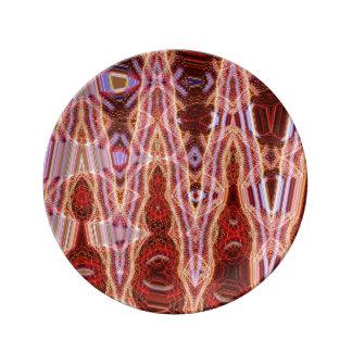 Sangviniskt peka dekorativt porslin pläterar