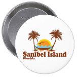 Sanibel Island. Stor Knapp Rund 10.2 Cm