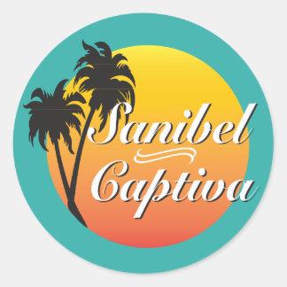 Sanibel och Captiva öar Florida Runt Klistermärke