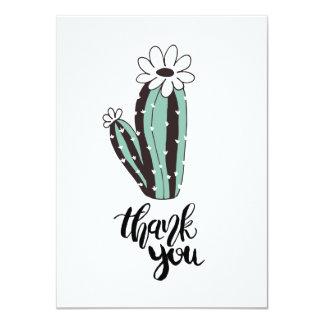 Sänker moderna kaktus för tack kortet 11,4 x 15,9 cm inbjudningskort