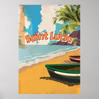 Sanktt affisch för Lucia vintagesemester
