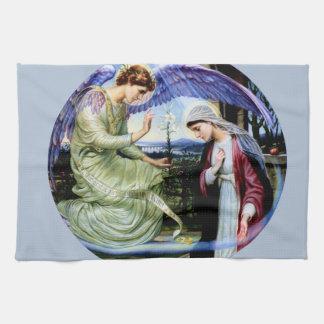 Sanktt ängelreligionkristendomen kökshandduk