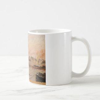 Sanktt avskilj, den Rouen morgonen, fem klockan Kaffemugg