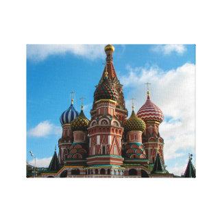 Sanktt basilika domkyrka, Moscow Canvastryck
