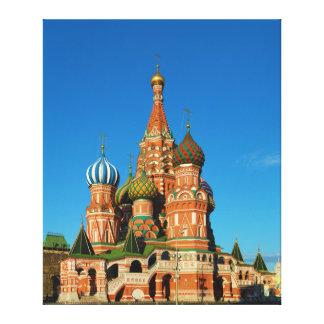 Sanktt basilika domkyrka Moscow Ryssland Canvastryck