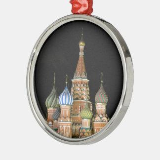 Sanktt basilika domkyrka rund silverfärgad julgransprydnad