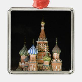 Sanktt basilika domkyrka silverfärgad fyrkantigt julgransprydnad