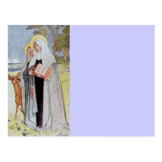 Sanktt broar och hjort vykort