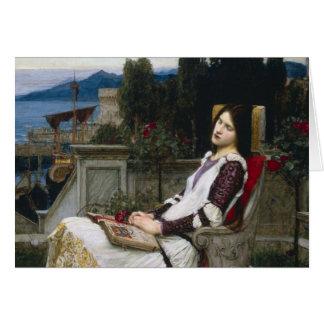 Sanktt Cecilia i trädgården Hälsningskort