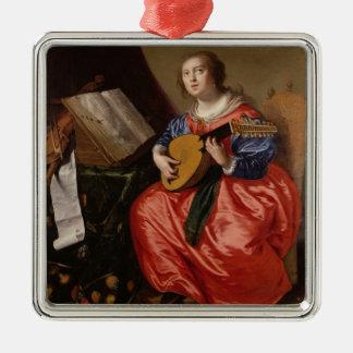 Sanktt Cecilia (olja på kanfas) Jul Dekorationer