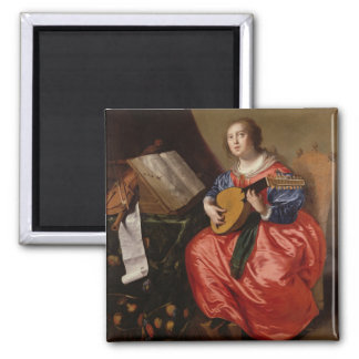 Sanktt Cecilia (olja på kanfas) Magnet