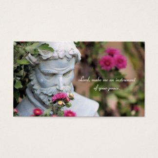 Sanktt Francis av Assisi bönkort Visitkort