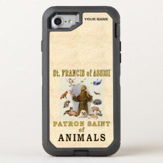 SANKTT FRANCIS av ASSISI (skyddshelgonet av djur) OtterBox Defender iPhone 7 Skal
