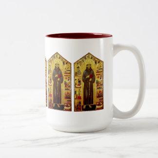 Sanktt Francis av den Assisi renaissancen Två-Tonad Mugg